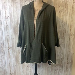 Sale ♻️ Oddy Hooded Open Poncho